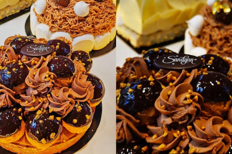 La tarte au chocolat «Comme une profiterole»
